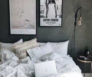 bedding, bedroom, and minimalist image