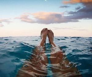 summer, sea, and moon image