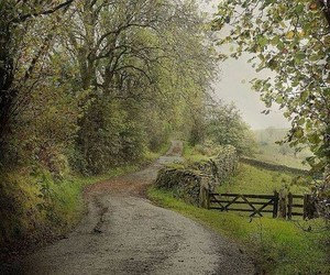 country road, fence, and back roads image