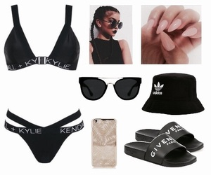 adidas, bikini, and black image