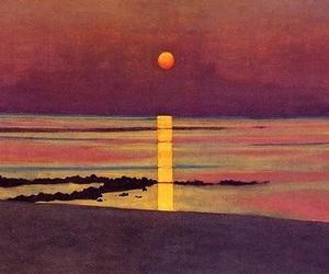 art, sunset, and felix vallotton image