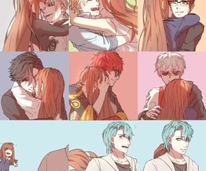 anime girl, anime boy, and mystic messenger image