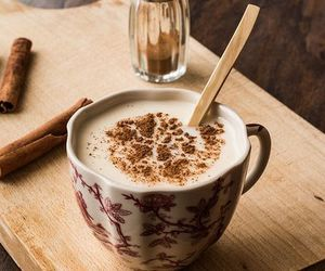 cappuccino, facebook, and food image