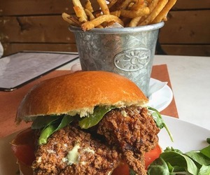 burger, catfish, and eat image