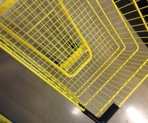 bright, shopping cart, and yellow image