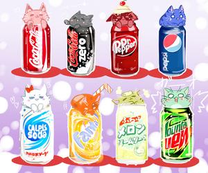 cat, soda, and cute image