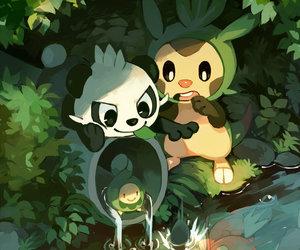 pokemon, pancham, and magikarp image