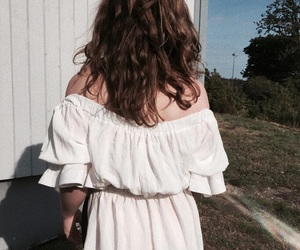 brown hair, clothes, and dress image