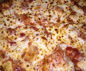 cheese, cheesy, and dominos image