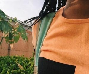 beautiful, orange, and green image