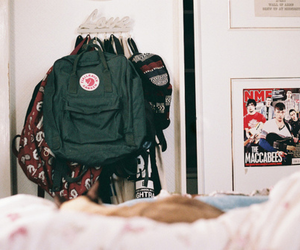 backpack, room, and fjallraven kanken image