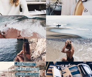 blue, surf, and aesthetic image