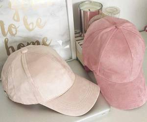 cap, fashion, and pink image