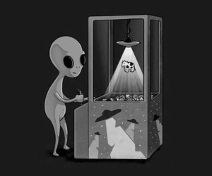 alien, cow, and game image