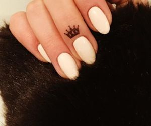 tattoo, crown, and nails image
