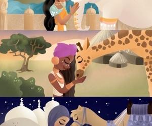 African, arabian, and girl image