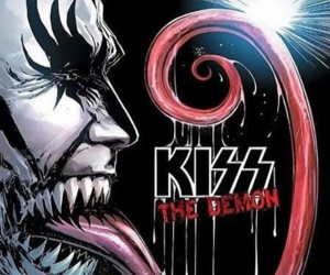 black and white, gene simmons, and kiss image