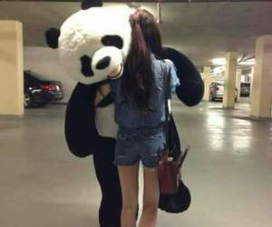 fashion, girl, and panda image