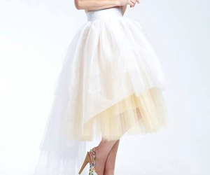 etsy, formal wear, and yellow skirt image
