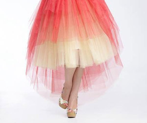 etsy, red skirt, and high waisted skirt image