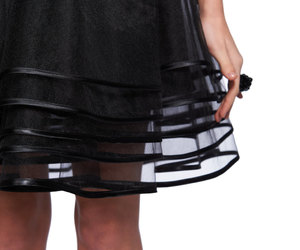 etsy, black circle skirt, and see through skirt image
