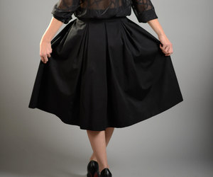 etsy, pleated skirt, and chic skirt image