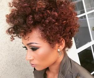 natural hair and short natural hair image