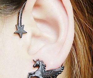 ear, unicorn, and earcuff image