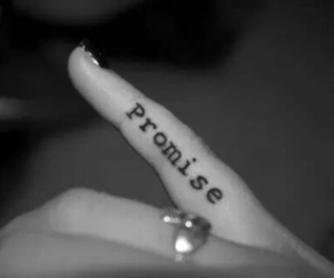 promise, tattoo, and fingers image