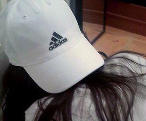 adidas, white, and hair image