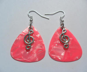 earrings, etsy, and guitar image