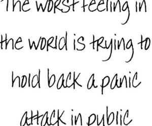 anxiety, feelings, and panic image