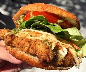 burger, fish, and foodie image