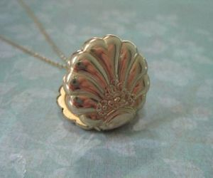 mermaid, gold, and necklace image
