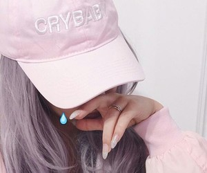 pink, cry baby, and nails image