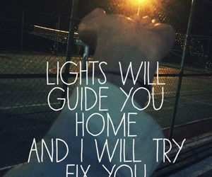coldplay, fix, and lights image