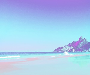 beach, peace, and psychodelic image