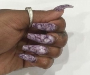 nails, marble, and purple image