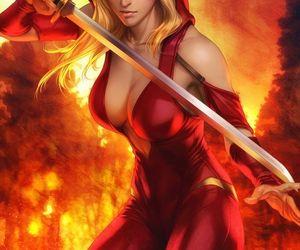 fantasy and female warrior image