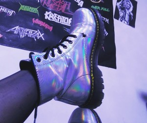 aesthetic, boots, and hologram image