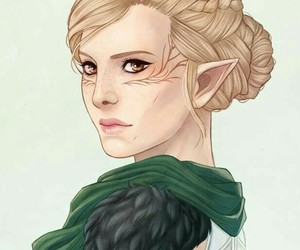 elf, elven, and dragon age image
