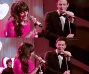 couple, glee, and sing image