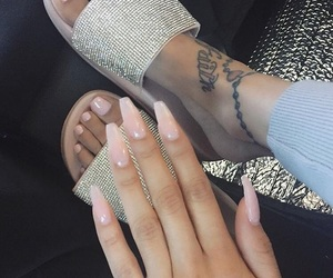 nails, tattoo, and shoes image
