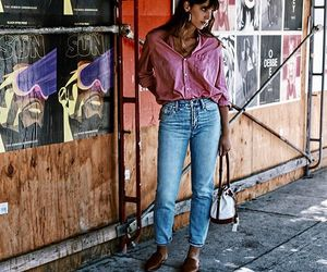 earrings, jeans, and levis image