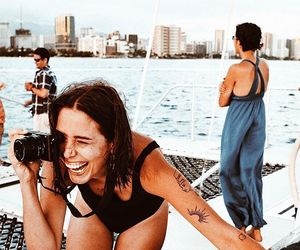 arm, boat, and camera image