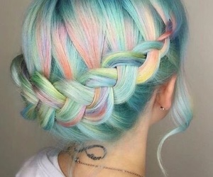 hair, tumblr, and light blue image