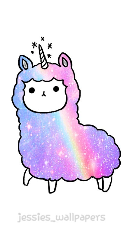 unicorn, blue, and llama image