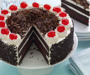 black forest, black forest cake, and cake image