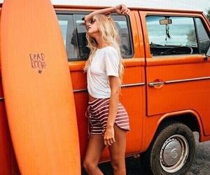 orange, girl, and summer image