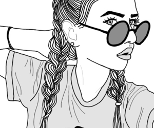 outline, girl, and tumblr image